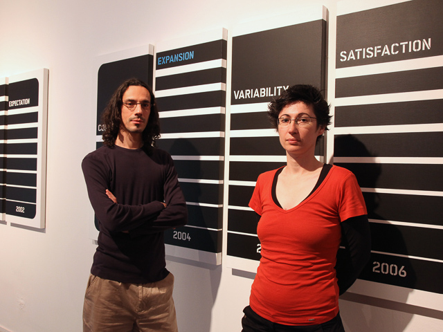 Violeta Vojvodic-Balaz and Eduard Balaz in The Museum of Contemporary Art Belgrade